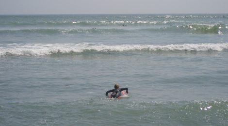It Could Only Happen To Me - Seasickness during a surf lesson in Peru