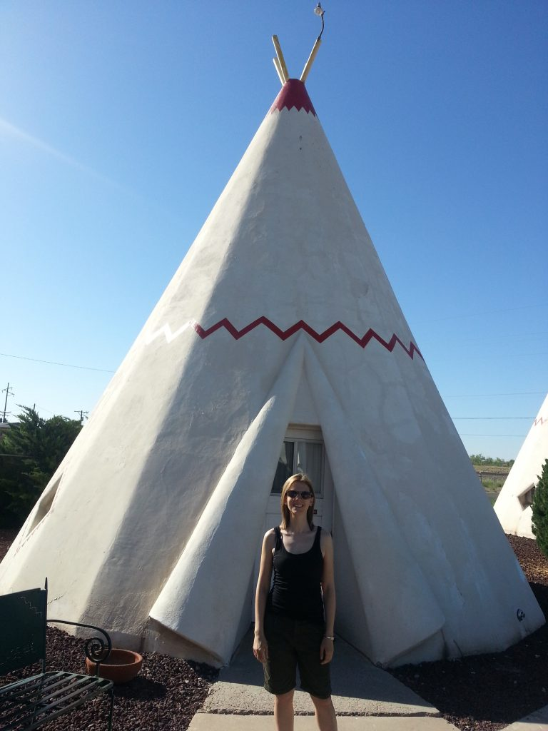 One of the wigwams at the Route 66 Wigwam Motel