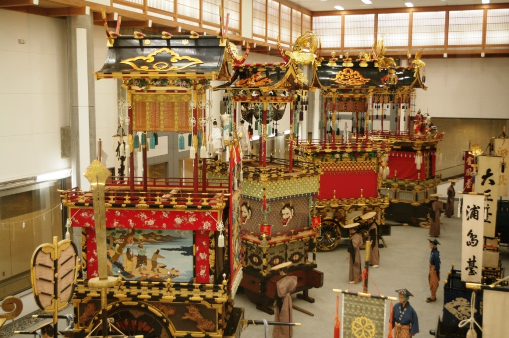Some of the Takayama Matsuri Festival Floats in the Exhibition Hall