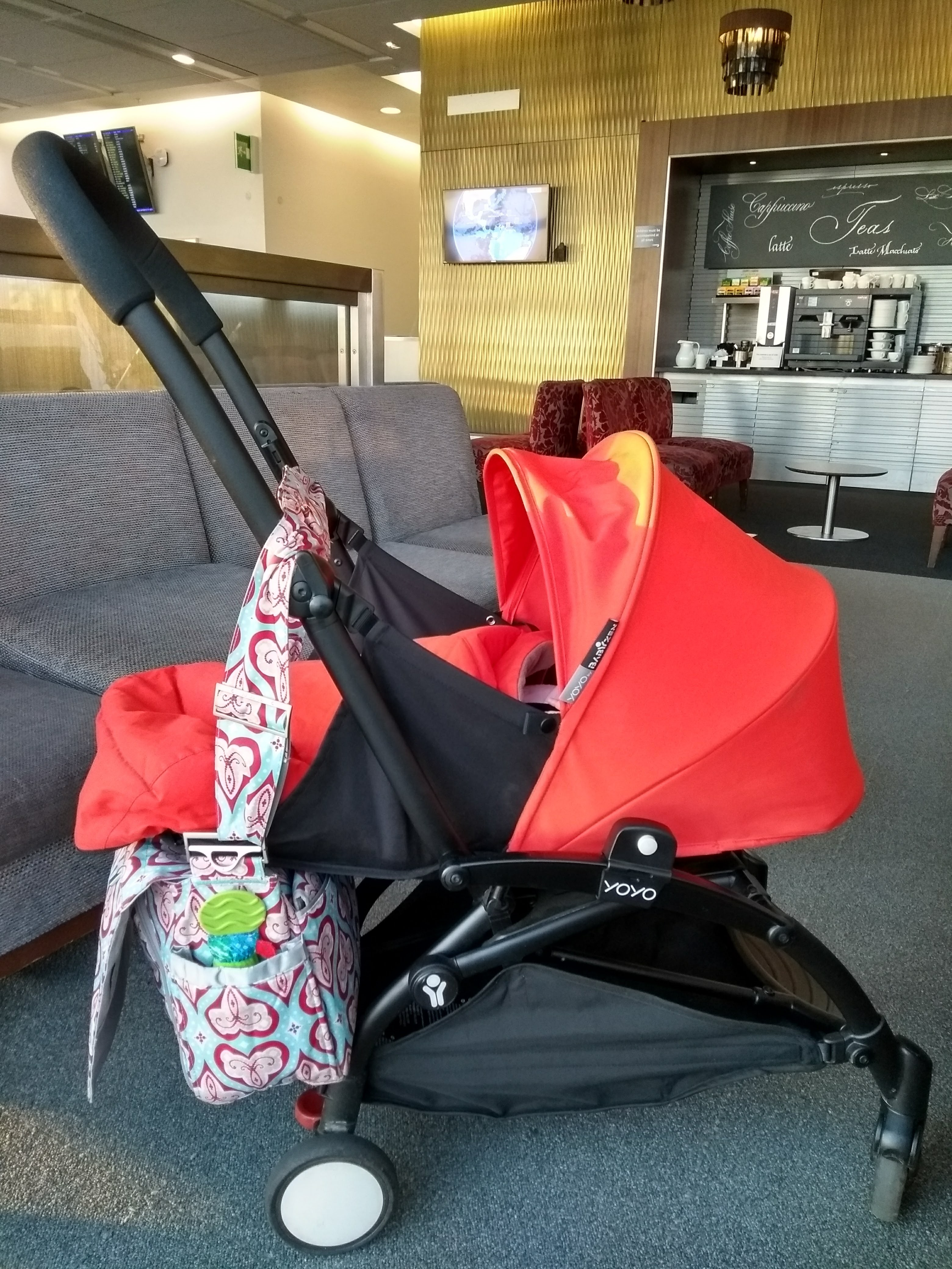 Flying business class with a baby
