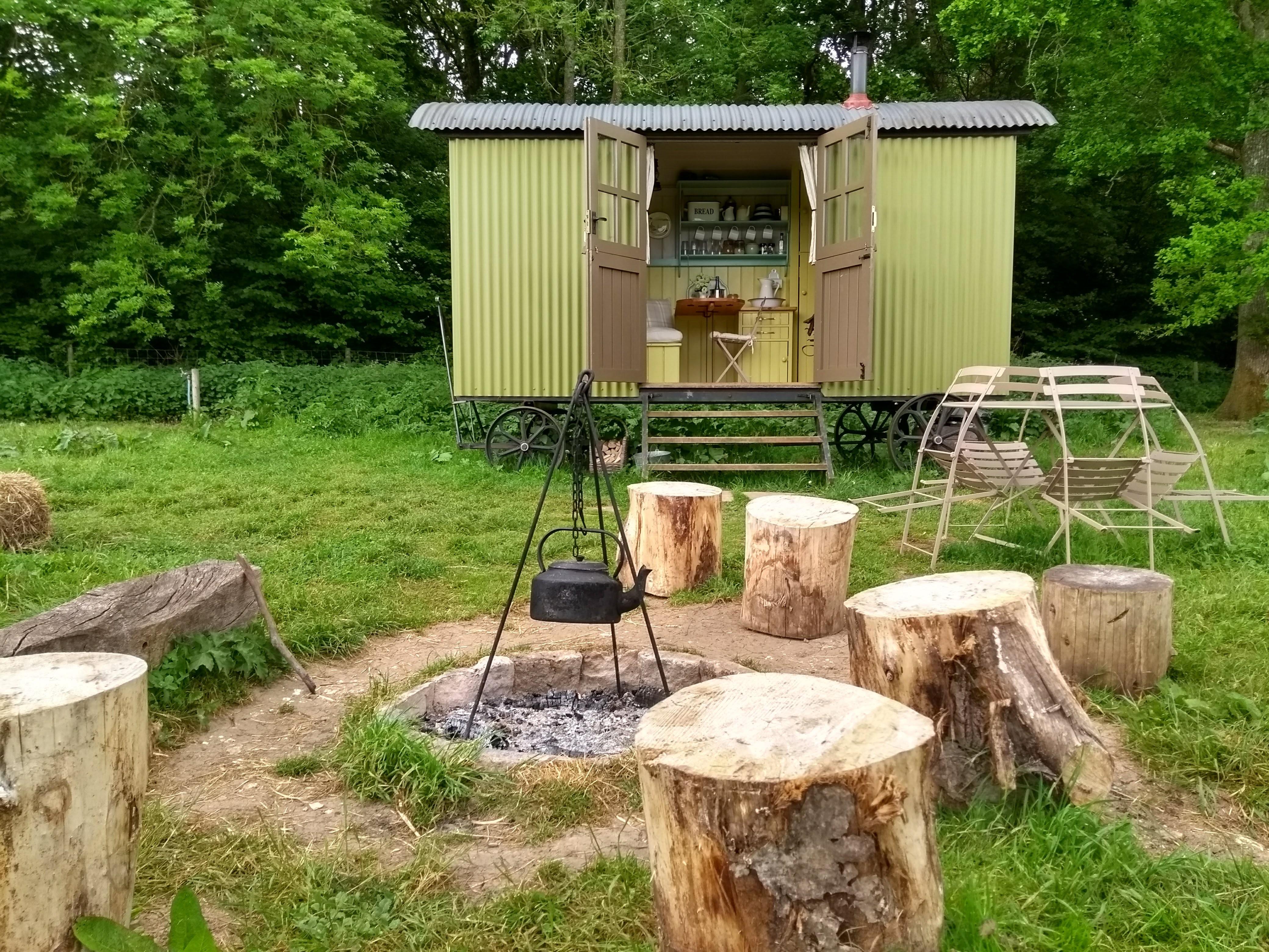 A digital detox at Wriggly Tin Shepherd's Huts