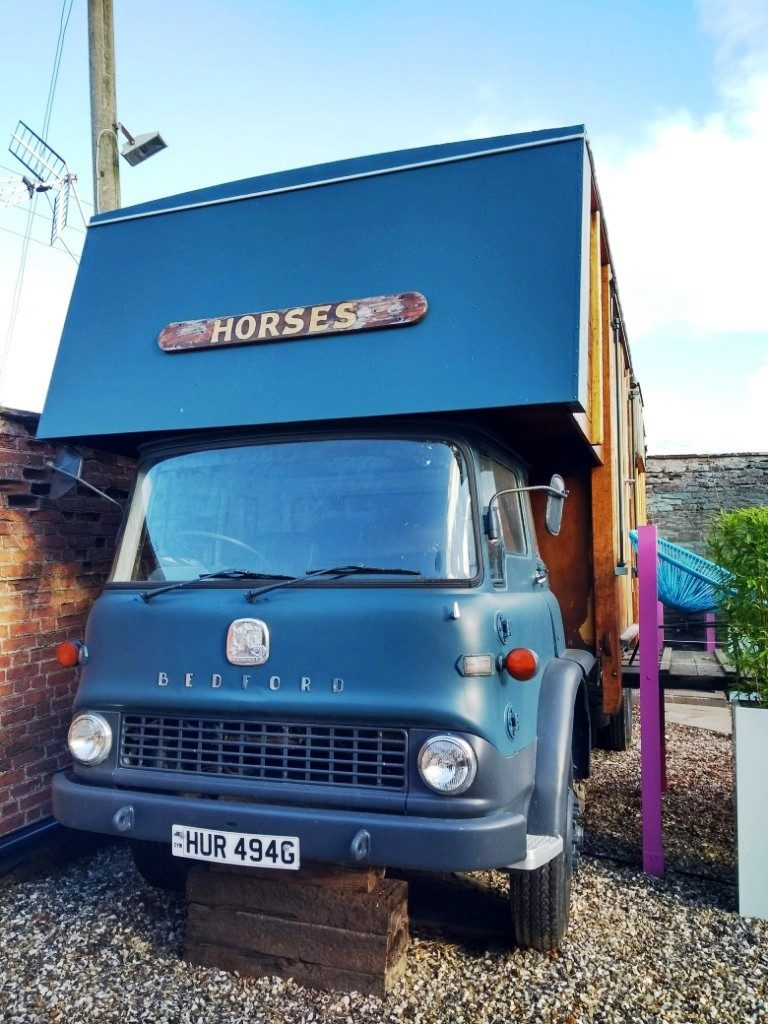 Front view of the horsebox at Brooks Country House Hotel