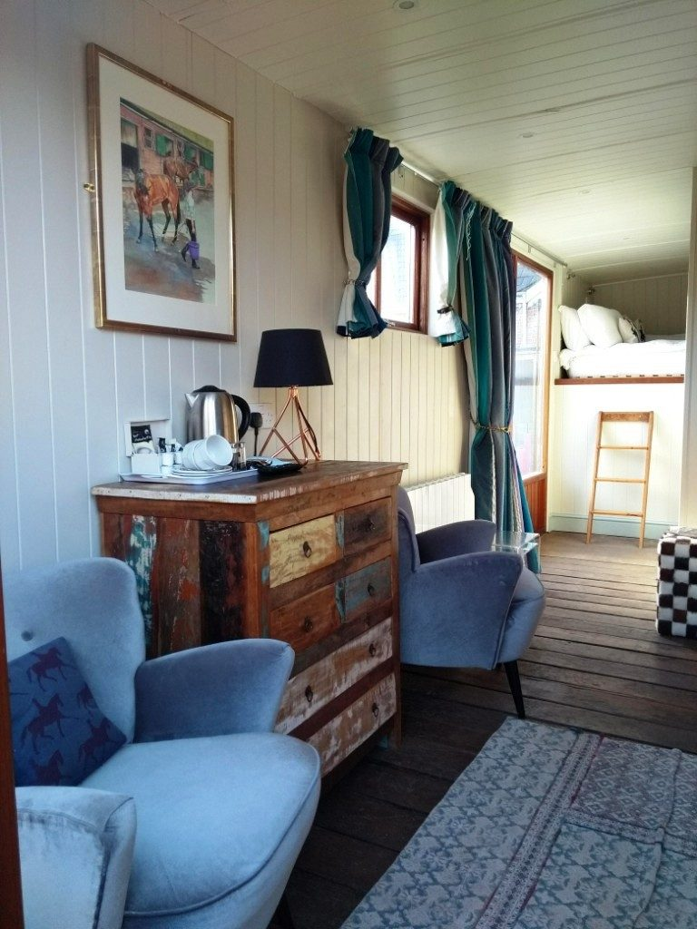 Inside view of the horsebox at Brooks Country House Hotel