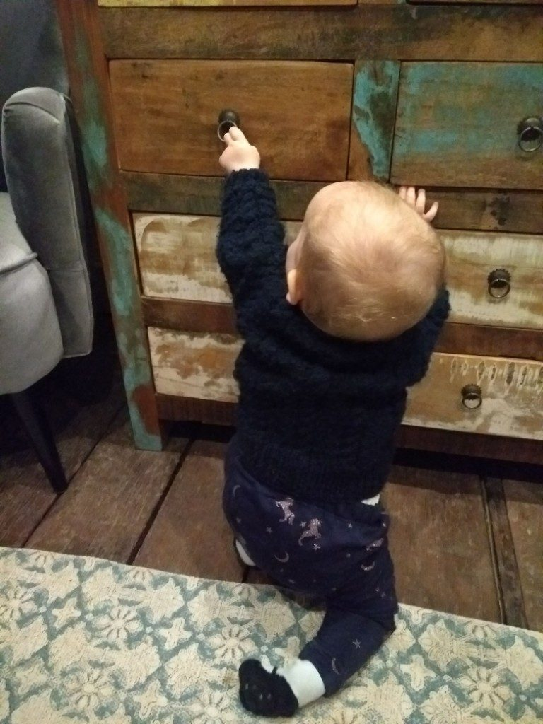 My little adventurer in the horsebox at Brooks Country House Hotel