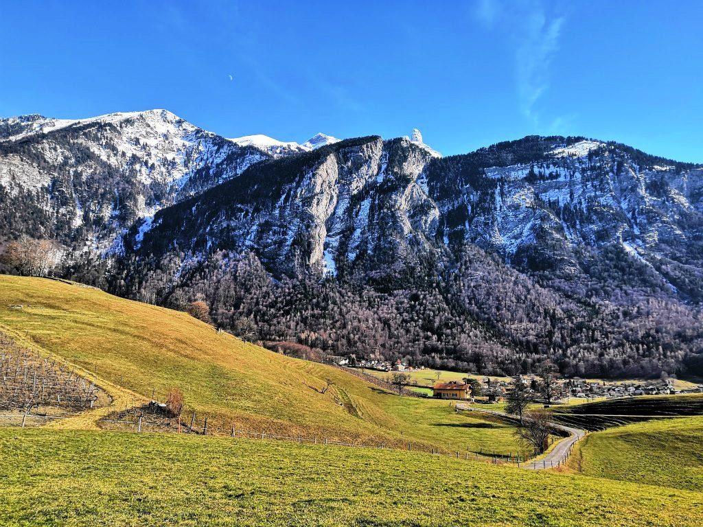 Mountains around Bex, Switzerland