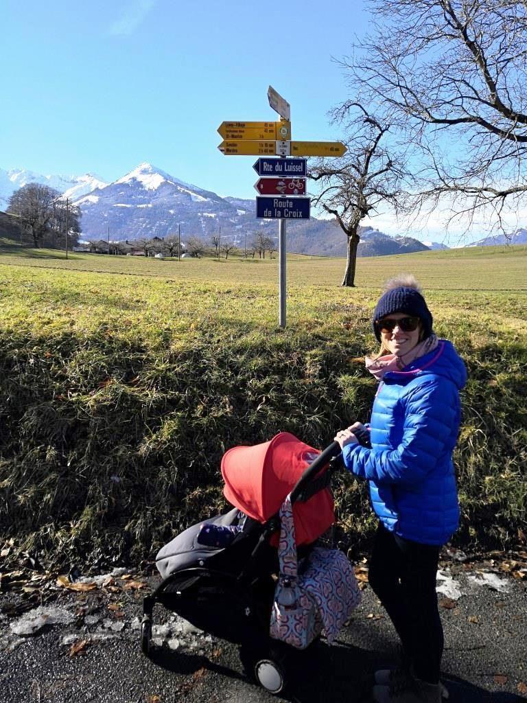 Walking in Bex, Switzerland