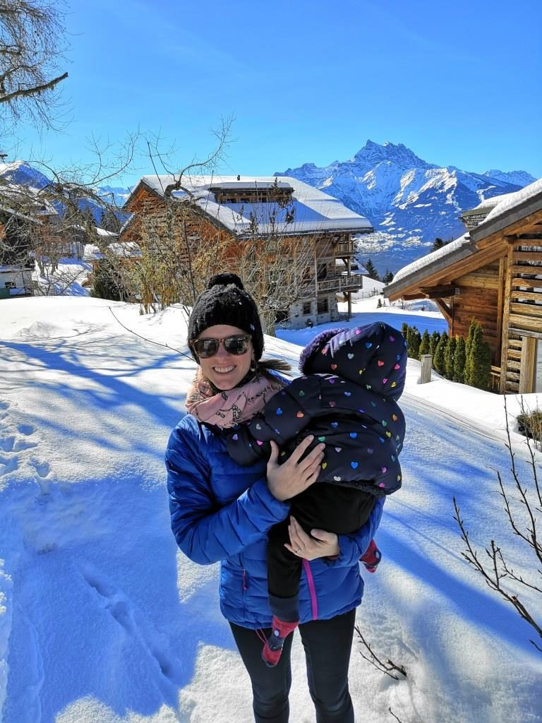 Travelling with a baby in Villars Ski Resort