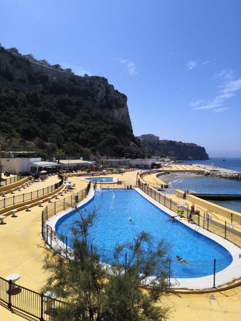 The pool in Camp Bay, Gibraltar