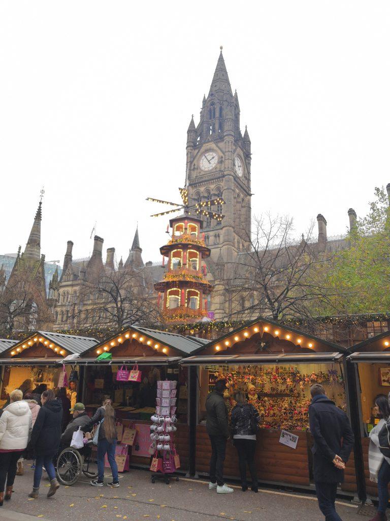 Stalls at Manchester Christmas Markets