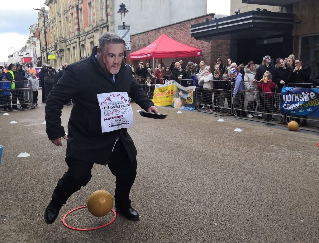 Pancake Day races in Scarborough