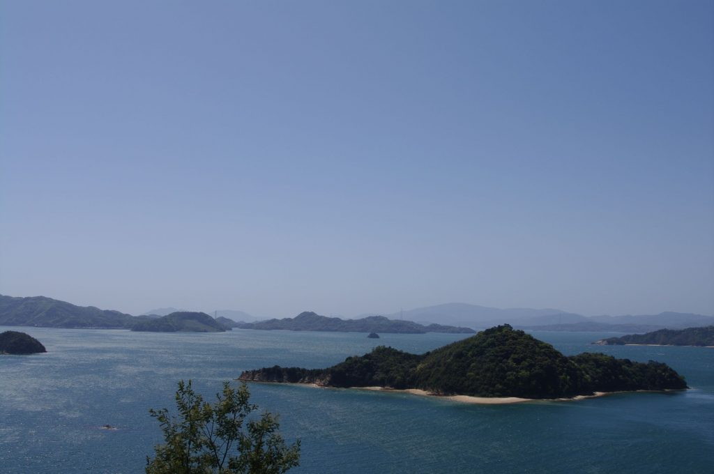 The view from Rabbit Island in Japan