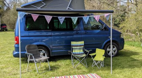 Our first night in a campervan